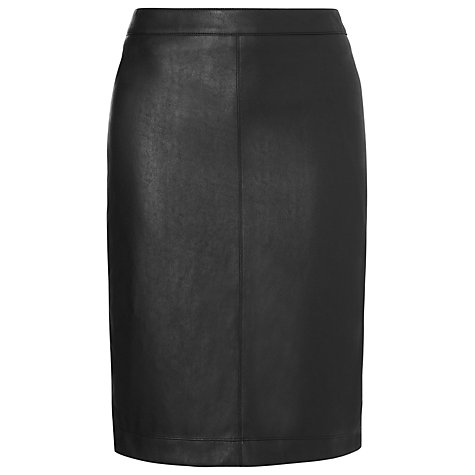 Buy L.K. Bennett Agave Leather Effect Pencil Skirt, Black Online at johnlewis.com