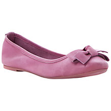 Buy Bertie Momos Leather Ballerina Pumps, Pink Online at johnlewis.com