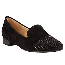 Buy Gabor Diamante Toe Slip On Shoes, Black Online at johnlewis.com