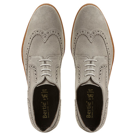 Buy Bertie Aston Suede Derby Brogue Shoes Online at johnlewis.com