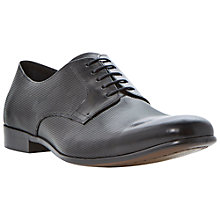 Buy Dune Aporation Printed Derby Shoes, Black Online at johnlewis.com