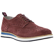 Buy Dune Brotherhood Suede Brogues, Burgundy Online at johnlewis.com