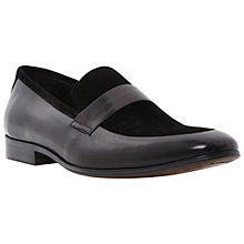 Buy Dune Avenger Leather Loafer, Black Online at johnlewis.com