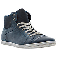 Buy Dune Sidewalk Leather Hi-Top Trainers Online at johnlewis.com