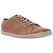 Buy Dune Trickster Basketweave Leather Trainers Online at johnlewis.com