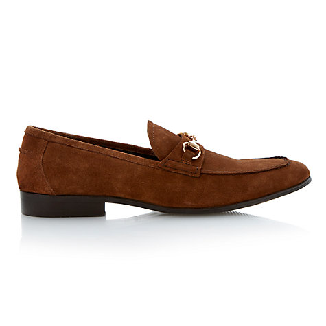 Buy Dune Adventure Suede Loafers, Tan Online at johnlewis.com