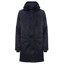 Buy G-Star Raw Verdem Hooded Parka Coat, Mazarine Blue Online at johnlewis.com