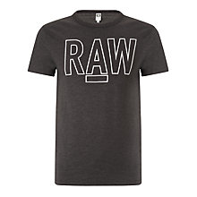 Buy G-Star Raw Basswood Short Sleeve T-Shirt, Raven Online at johnlewis.com