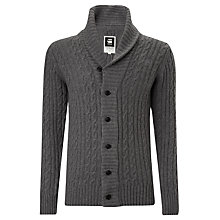 Buy G-Star Raw Higging Cable Knit Cardigan, Castor Heather Online at johnlewis.com