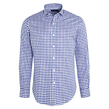 Buy Polo Golf by Ralph Lauren Spread Gingham Cotton Shirt, Royal Blue/White Online at johnlewis.com