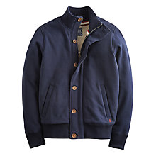 Buy Joules Brockton Jersey Bomber Jacket, Navy Online at johnlewis.com