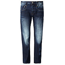Buy G-Star Raw New Radar Comfort Dark Wash Straight Jeans, Medium Aged Online at johnlewis.com