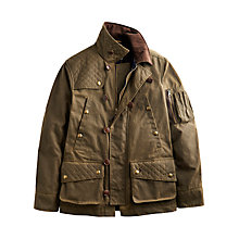 Buy Joules Lansdale Waxed Cotton Jacket, Dark Olive Online at johnlewis.com
