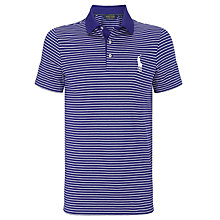 Buy Polo Golf by Ralph Lauren Stripe Polo Shirt, Foster Blue/White Online at johnlewis.com