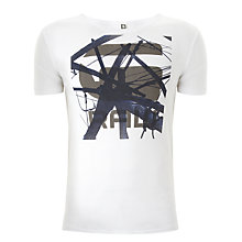 Buy G-Star Raw Combred Short Sleeve T-Shirt, White Online at johnlewis.com