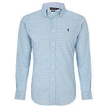 Buy Polo Golf by Ralph Lauren Check Cotton Shirt, Turquoise Online at johnlewis.com