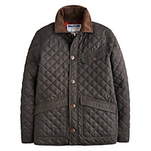 Buy Joules Denham Quilted Jacket, Bark Online at johnlewis.com