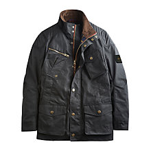 Buy Joules Lockhart Wax Jacket, Dark Brown Online at johnlewis.com