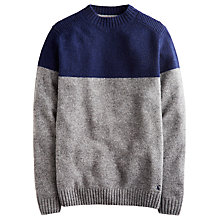 Buy Joules Tedmund Round Neck Jumper, Grey/Blue Online at johnlewis.com