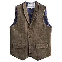 Buy Joules Fincharm Tweed Waistcoat, Brown Online at johnlewis.com
