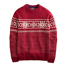 Buy Joules Atholl Christmas Jumper, Red Shoe Online at johnlewis.com