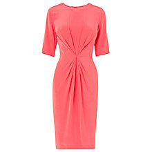 Buy L K Bennett Lisburn Pleat Detail Dress, Coral Online at johnlewis.com