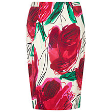 Buy L.K. Bennett Laconia Rose Print Skirt, Rose Online at johnlewis.com