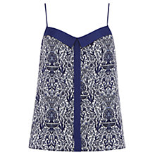Buy Oasis Scarf Print Cami Top, Blue/Multi Online at johnlewis.com