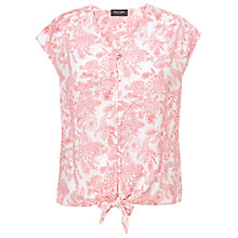 Buy Phase Eight Fearne Printed Tie Front Top Online at johnlewis.com