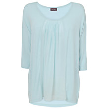Buy Phase Eight Blake Silk Front Top, Celestial Blue Online at johnlewis.com
