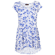 Buy Phase Eight Floral Tegan Cap Sleeve Top, Periwinkle/White Online at johnlewis.com