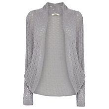 Buy Oasis Lace Drape Cardigan, Mid Grey Online at johnlewis.com