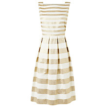 Buy L.K. Bennett Carma Metallic Strap Dress, Gold Online at johnlewis.com