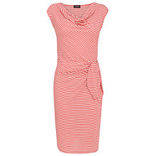Buy Phase Eight Olivia Stripe Dress, Poppy/White Online at johnlewis.com