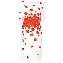 Buy L.K. Bennett Lasa Poppy Print Dress, Poppy Online at johnlewis.com