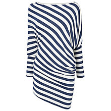 Buy Phase Eight Eve Stripe Asymmetric Top, Navy/Ivory Online at johnlewis.com