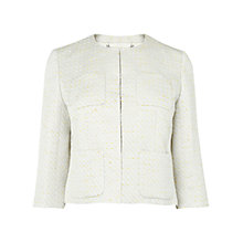 Buy L K Bennett Stella Lurex Detail Jacket, Cream Online at johnlewis.com