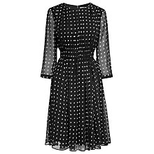 Buy L.K. Bennett Jackina 3/4 Length Sleeve Dress, Black Online at johnlewis.com