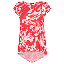 Buy Phase Eight Elenor Printed Top, Poppy/White Online at johnlewis.com