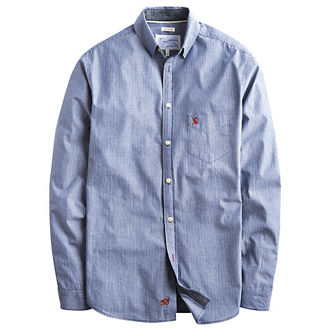Buy Joules Lindhurst Cotton Long Sleeve Shirt, Ink Stripe Online at johnlewis.com