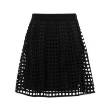 Buy Reiss Kaneo Laser Cut Skirt, Black Online at johnlewis.com