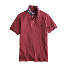 Buy Joules Woody Short Sleeve Polo Shirt, Deep Pink Online at johnlewis.com