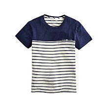 Buy Joules Skipperton Stripe Cotton T-Shirt, Navy Stripe Online at johnlewis.com