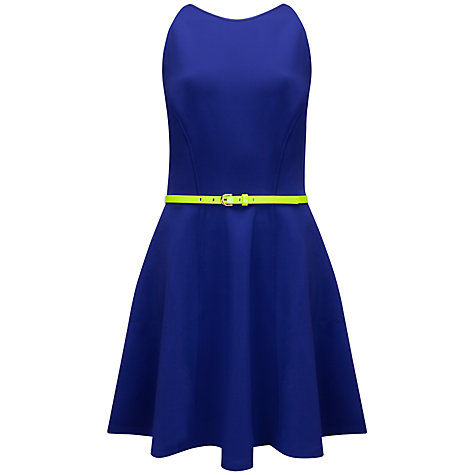 Buy Ted Baker Sleeveless Full Skirt Dress, Mid Purple Online at johnlewis.com