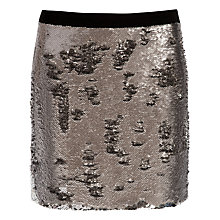Buy Ted Baker Sequin Mini Skirt, Silver Online at johnlewis.com