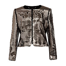 Buy Ted Baker Sequin Jacket, Silver Online at johnlewis.com