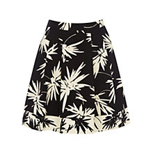 Buy Oasis Palm Print Skater Skirt, Multi Online at johnlewis.com