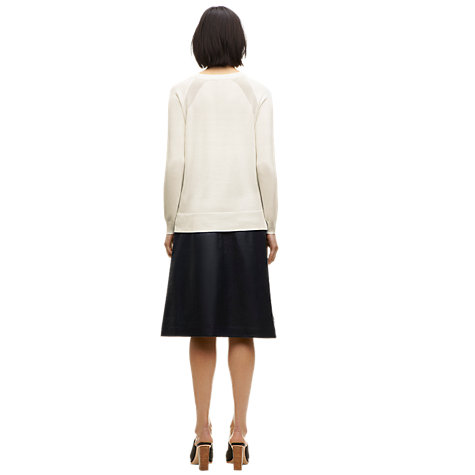Buy Whistles Domini Sheer Shoulder Jumper, White Online at johnlewis.com