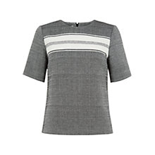 Buy Hobbs Katherine Top, Black/Ivory Online at johnlewis.com