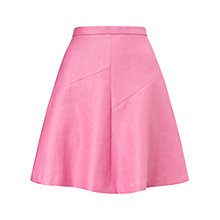 Buy Whistles Agnes Fit And Flare Skirt, Pink Online at johnlewis.com